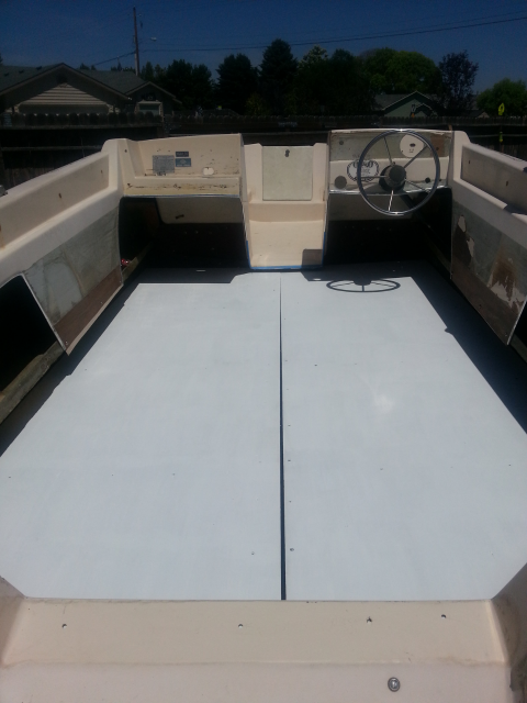 NEW BOAT FLOOR -- PAINTED